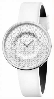 Calvin Klein Mania | correa de piel blanca para mujer | esfera blanca KAG231LX