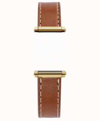 Michel Herbelin Antarès | harrison gold | Correa intercambiable de cuero marrón solamente (dorado) BRAC.17048.02/P