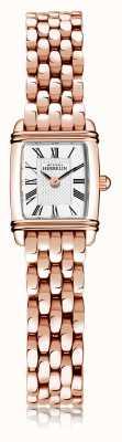 Michel Herbelin Art déco | brazalete de acero chapado en oro rosa para mujer | esfera blanca | numeral romano | 17438/PR08B