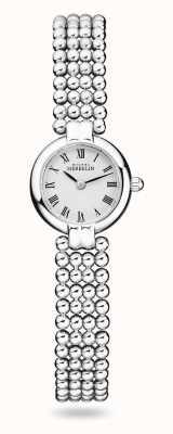 Michel Herbelin Perles | pulsera de acero inoxidable para mujer | esfera blanca 17433/B08