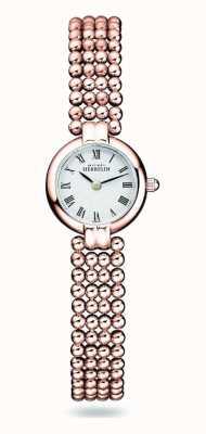 Michel Herbelin Perles | pulsera mujer acero chapado en oro rosa | esfera blanca 17433/BPR08