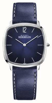 Michel Herbelin Ciudad | correa de cuero azul para hombre | esfera azul 16905/15BL