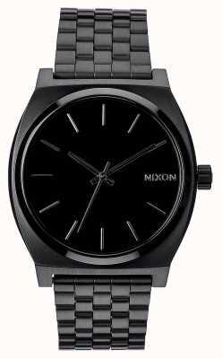 Nixon Cajero del tiempo | todo negro | pulsera de acero ip negro | esfera negra A045-001-00