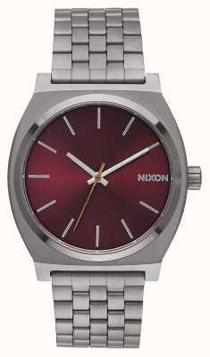 Nixon Cajero del tiempo | gunmetal / burdeos profundo | pulsera ip bronce | esfera burdeos A045-2073-00