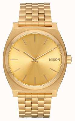 Nixon Cajero del tiempo | todo oro / oro | pulsera ip oro | esfera de oro A045-511-00