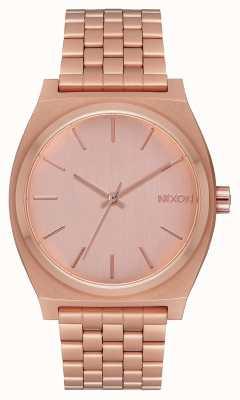 Nixon Cajero del tiempo | todo oro rosa | pulsera de oro rosa | esfera de oro rosa A045-897-00