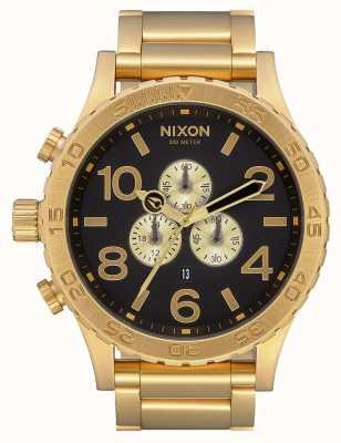 Nixon 51-30 crono | todo dorado / negro | pulsera ip oro | esfera negra A083-510-00