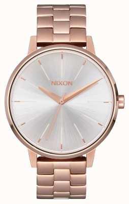 Nixon Kensington | oro rosa / blanco | pulsera ip oro ross | esfera plateada A099-1045-00