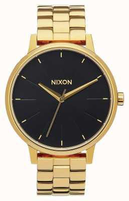 Nixon Kensington | todo rayos de sol dorado / negro | pulsera ip oro | esfera negra A099-2042-00