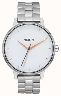 Nixon Kensington | plata / blanco / oro rosa | pulsera de acero inoxidable | esfera blanca A099-3029-00