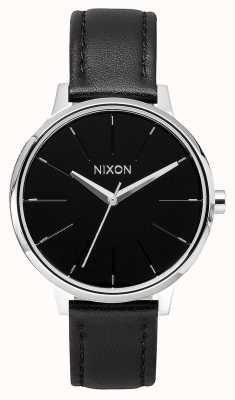 Nixon Cuero Kensington | negro | correa de cuero negro | esfera negra A108-000-00