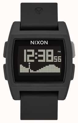 Nixon Marea base   todo negro   digital   correa de silicona negra   A1104-001-00