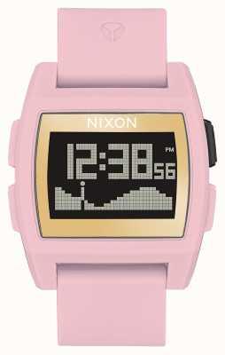 Nixon Marea base | rosa suave / dorado / izq. digital | correa de silicona rosa A1104-2773-00