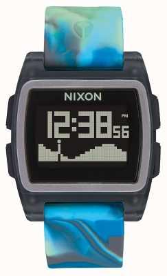Nixon Marea base | medusa azul | digital | correa de silicona multicolor A1104-3176-00