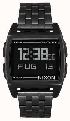 Nixon Base | todo negro | digital | pulsera de acero ip negro | A1107-001-00