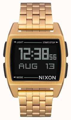 Nixon Base | todo el oro | digital | pulsera de acero ip dorado A1107-502-00