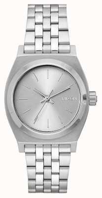 Nixon Cajero de tiempo medio | todo plata | pulsera de acero inoxidable | esfera plateada A1130-1920-00