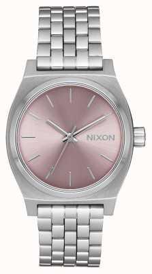 Nixon Cajero de tiempo medio | lavanda plateada / pálida | pulsera de acero inoxidable | A1130-2878-00