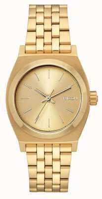 Nixon Cajero de tiempo medio | todo el oro | pulsera de acero ip oro | esfera de oro A1130-502-00