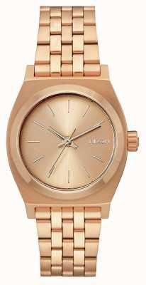 Nixon Cajero de tiempo medio | todo oro rosa | pulsera de acero ip oro rosa | A1130-897-00