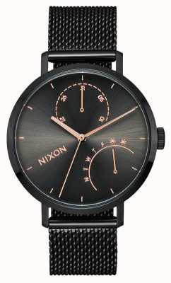 Nixon Embrague | negro / bronce | malla de acero ip negro | esfera negra A1166-1420-00