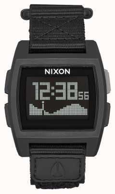 Nixon Nylon de marea base | todo negro | digital | correa de nailon negra A1169-001-00