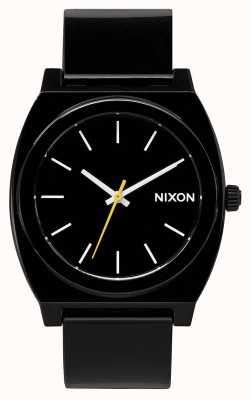 Nixon Cajero del tiempo p | negro | correa de plástico negro | esfera negra A119-000-00