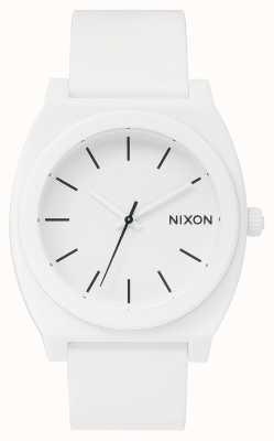 Nixon Cajero del tiempo p | blanco mate | correa de silicona blanca | esfera blanca A119-1030-00