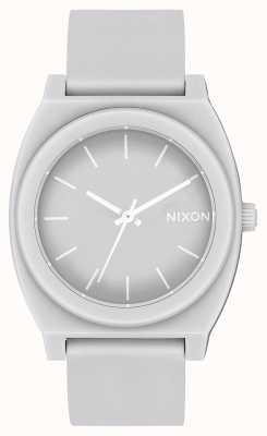 Nixon Cajero del tiempo p | gris frío mate | correa de silicona gris | esfera gris A119-3012-00