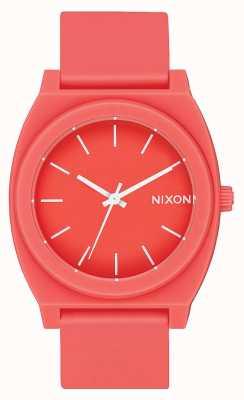 Nixon Cajero del tiempo p | coral mate | correa de silicona coral | esfera de coral A119-3013-00