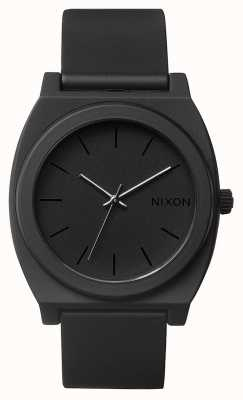 Nixon Cajero del tiempo p | negro mate | correa de silicona negra | esfera negra A119-524-00