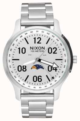 Nixon Ascender | todo plata | pulsera de acero inoxidable | esfera blanca A1208-1920-00