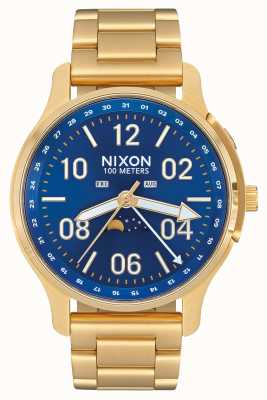 Nixon Ascender | todo dorado / azul rayo de sol | acero ip oro | esfera azul A1208-2735-00