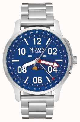 Nixon Ascender | plata / azul | pulsera de acero inoxidable | esfera azul A1208-722-00