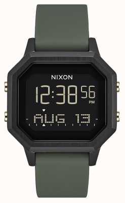 Nixon Sirena ss | negro / fatiga | digital | silicona negra | A1211-178-00