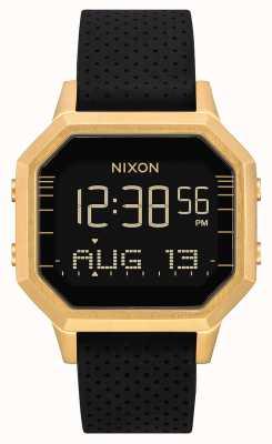 Nixon Sirena ss | oro / negro lh | digital | correa de silicona negra A1211-2970-00