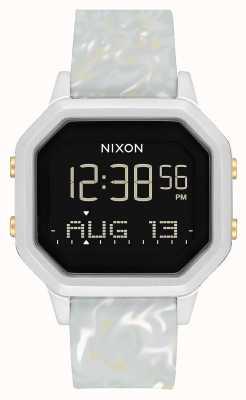 Nixon Sirena ss | mármol plateado / gris | digital | correa de silicona color mármol A1211-3413-00