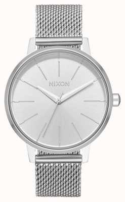 Nixon Kensington milanese | todo plata | malla de acero inoxidable | esfera plateada A1229-1920-00
