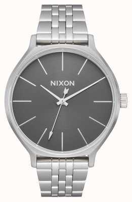 Nixon Clique | todo plateado / gris | pulsera de acero inoxidable | esfera plateada A1249-2762-00