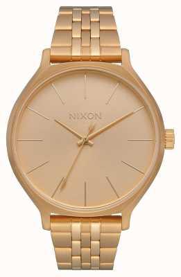 Nixon Clique | todo el oro | pulsera de acero ip oro | esfera de oro A1249-502-00