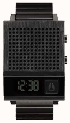 Nixon Dork también | todo negro | digital | pulsera de acero ip negro | hablando A1266-001-00