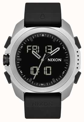 Nixon Ripley | plata / negro | digital | correa de tpu negro A1267-625-00