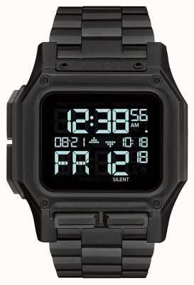 Nixon Regulus ss | todo negro | digital | pulsera de acero ip negro A1268-001-00