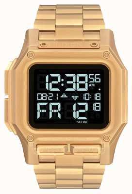 Nixon Regulus ss | todo el oro | digital | pulsera de acero ip oro | A1268-502-00