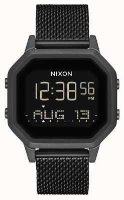 Nixon Sirena milanesa | todo negro | digital | malla de acero ip negro | A1272-001-00