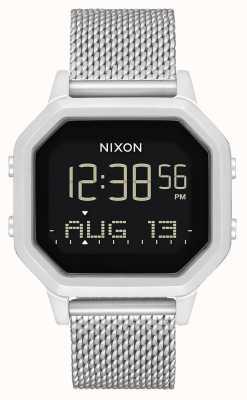 Nixon Sirena milanesa | todo plata | digital | pulsera de malla de acero inoxidable A1272-1920-00