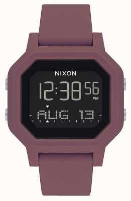 Nixon Sirena | borgoña | digital | correa de silicona burdeos A1311-234-00