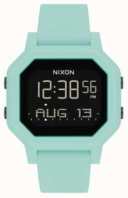 Nixon Sirena | aqua | digital | correa de silicona turquesa A1311-2930-00