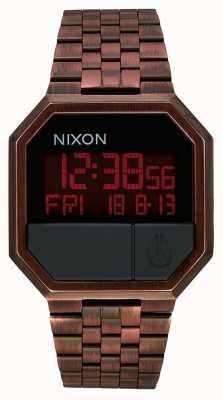 Nixon Vuelva a ejecutar | cobre antiguo | digital | pulsera de acero ip color cobre A158-894-00