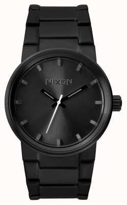 Nixon Cannon   todo negro   pulsera de acero ip negro   esfera negra A160-001-00